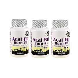 ACAI FAT BURN N.3 - QEMADOR NATURAL - 3 FRASCOS (60 CAPSULAS)