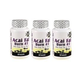 ACAI FAT BURN N.3 - QEMADOR NATURAL - 3 FRASCOS (60 CAPSULAS)