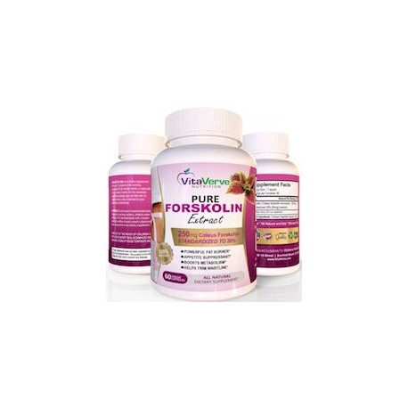 PURE FORSKOLIN EXTRACT - (60 CAPSULAS VEGETARIANAS)