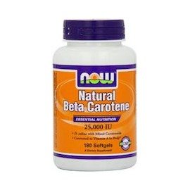 NATURAL BETA CAROTENE - NATURAL Y BIO DISPONIBLE (180 CAPSULAS)