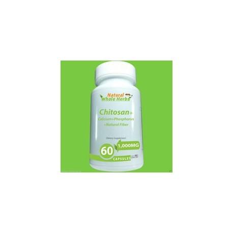 CHITOSAN - CALCIUM - PHOSPHORUS - NATURAL FIBER (60 CAPSULAS)