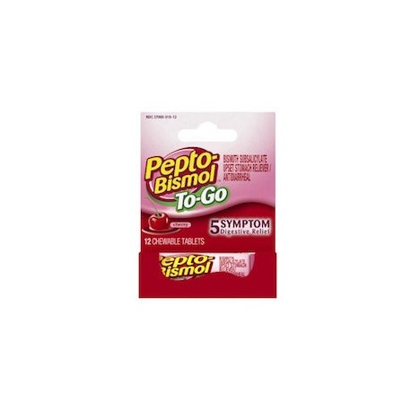 PEPTO BISMOL TO GO (12 TABLETAS)