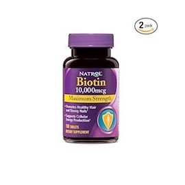 BIOTIN MAXIMUM STRENGTH (100 TABLETAS 2 FRASCOS)