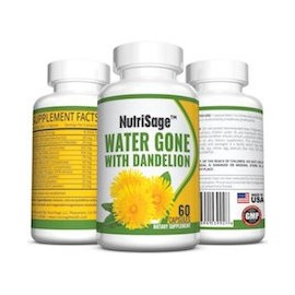 WATER GONE WITH DANDELION (60 CAPSULAS)