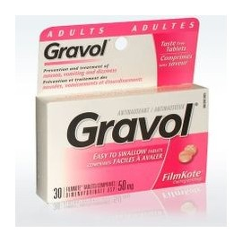 GRAVOL 50MG ANTI NAUSEAS Y VOMITOS (30 TABLETAS)