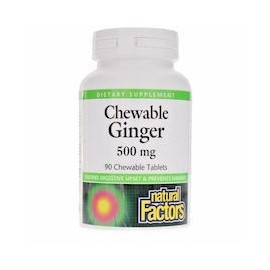CHEWABLE GINGER ALIVIO PARA EL VOMITO (90 TABLETAS)
