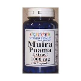 MUIRA PUAMA EXTRACT 1000MG (200 CAPSULAS)