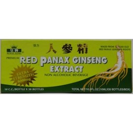 RED PANAX GINSENG EXTRACT 6000MG 30 FRASCOS