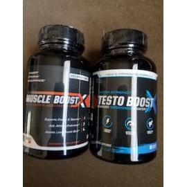MUSCLE BOOST X NO2 60 CAPS + TESTO BOOST X COMBO PACK 60 CAPS