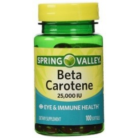 SPRING VALLEY BETA CAROTENE 100 CAPS