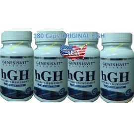 GENESISVIT HGH 60 CAPS 4 FRASCOS MUCHA MASA MUSCULAR