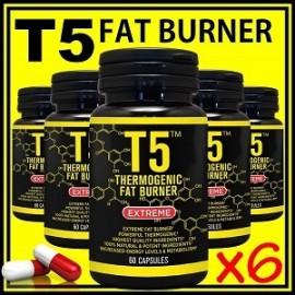 T5 FAT BURNER 360 CAPS QUEMAR GRASA CORPORAL 6 FRASCOS