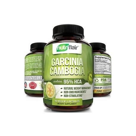 PURE GARCINIA CAMBOGIA EXTRACT 95% HCA 90 CAPS