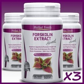 FORSKOLIN PILLS EXTRACT 180 CAPS X3 FRASCOS