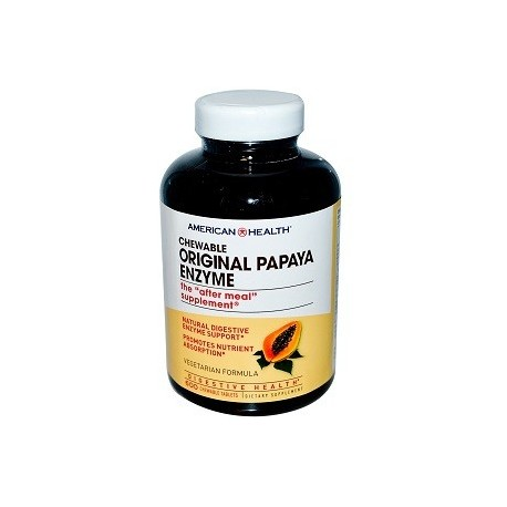 AMERICAN HEALTH CHEWABLE ORIGINAL PAPAYA ENZYME 600 CAPS