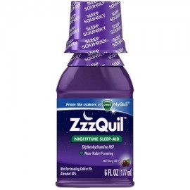 ZzzQuil Nighttime Sleep-Aid Liquid, Calentamiento Berry 6 oz (Pack de 3)