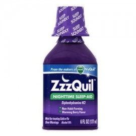 ZzzQuil Nighttime Sleep-Aid Liquid, Calentamiento Berry 6 oz (Pack de 2)