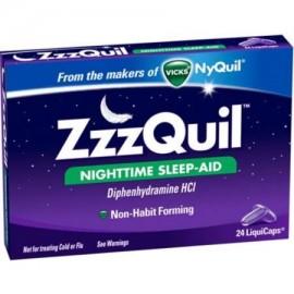 ZzzQuil sueño nocturno-Aid, LiquiCaps 24 ea (paquete de 6)