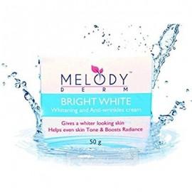 melodyderm brillante crema blanca - mejor para blanquear la piel y crema para aclarar - con vitamina B3 y colágeno - da una pie