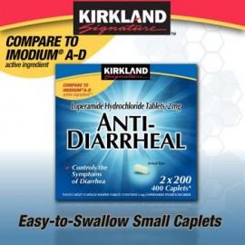 Kirkland Signature antidiarreico loperamida clorhidrato Tablets 2mg - 4 paquetes de 200 Caplets - Cos14