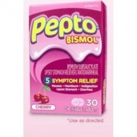 Antidiarreicos Pepto-Bismol 262 mg Fuerza Tableta masticable 48 por Caja
