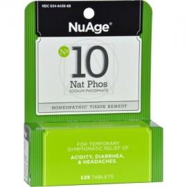NuAge homeopático Natrum Phosphoricum 10 tabletas alivio natural de la acidez diarrea y dolores de cabeza 125 Conde
