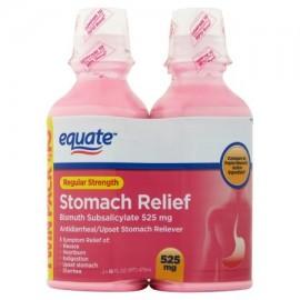 estómago Regular Strength Alivio subsalicilato de bismuto líquido 16 onzas fluidas 2 pk
