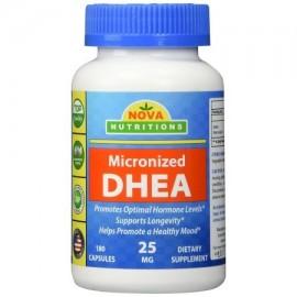 micronizado DHEA 25 mg 180 Cápsulas - Compatible con los niveles de hormonas balanceadas para los hombres y de las mujeres