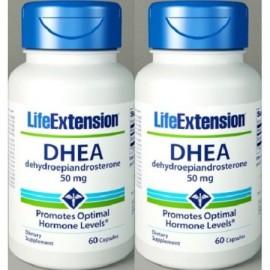 DHEA 50 mg 60 Cápsulas 2 Botellas