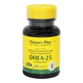 - DHEA-25 con Bioperine 25 mg. - 60 cápsulas vegetales
