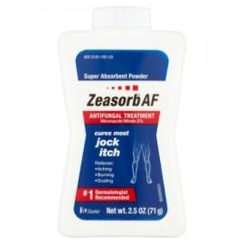 Zeasorb Jock Itch absorbente estupenda Powder tratamiento antifúngico 25 oz