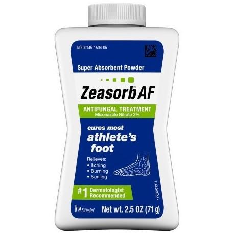 Pie de Atleta tratamiento antifúngico en polvo Nitrato de miconazol al 2% 25 oz