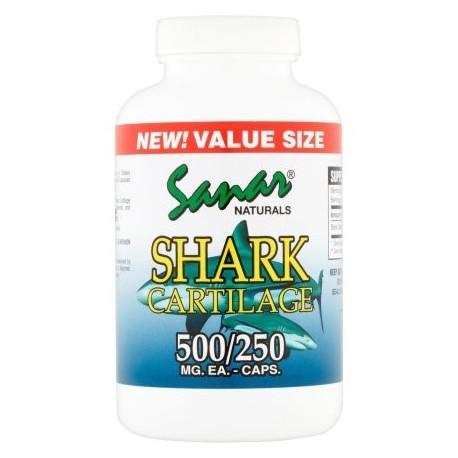 Sanar Naturals cartílago de tiburón cápsulas de suplementos dietéticos 500 mg 250 ct