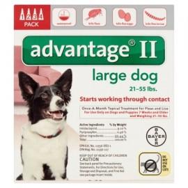 Advantage II pulgas y piojos Tratamiento tópico para perros 21-55 libras 4-Conde