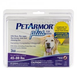 PetArmor Plus para Perros 45-88 libras - 3 CT
