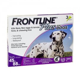 Frontline Plus Control de pulgas y garrapatas para perros grandes de 45 a 88 libras y 3 Tratamientos