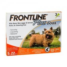 Frontline Plus Control de pulgas y garrapatas para perros pequeños de 5 a 22 libras 3 tratamientos