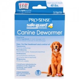 Acuicultura salvaguardar los 4 canina Antihelmíntico 4g 3-Pack