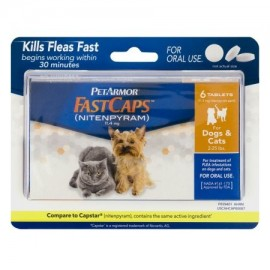 PetArmor FastCaps Flea Killer comprimidos para perros y gatos 2-25 lbs. - 6 CT
