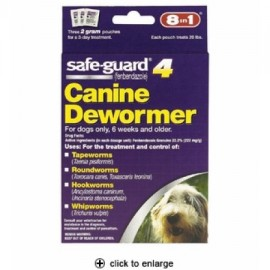 Safeguard 4 Canine Antihelmíntico (2 gm) - perros medianos (3 pack)