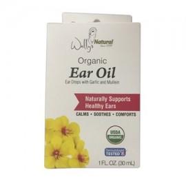 Wallys orgánico natural Aceite Ear Drops con ajo y gordolobo 1 onza