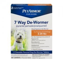 PetArmor Para Perros 7 Manera De-Wormer para cachorros y perros pequeños - 2 CT
