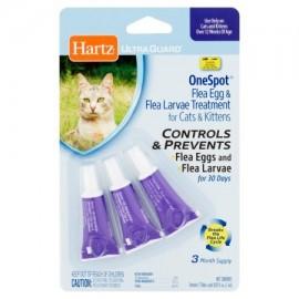 Hartz UltraGuard un punto de pulgas huevo y Tratamiento larvas de pulgas de los gatos y de los gatitos 003 onzas fluidas 3
