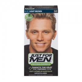 Just For Men fórmula original Fácil Lather-In Color de pelo H-25 Castaño claro 10 KIT DE