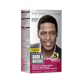 Oscuro y natural para hombre Permanente 5 Minuto color de pelo Kit Negro Natural - 1 ea