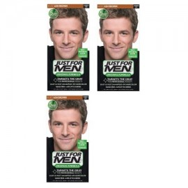 Just For Men Shampoo-en Color de pelo Ash Brown H-20 1 Aplicación (Pack de 3)
