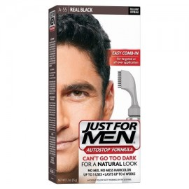 AutoStop hombres de color de pelo el Real Negro buque de EE.UU. Just For Men Marca