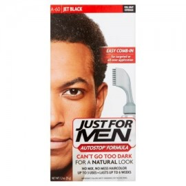 Just For Men Autostop Fórmula Fácil Peine-In Color de pelo A-60 Jet Negro 1.2 OZ