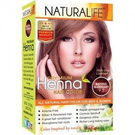 Naturalife Henna Natural Color de cabello para hombres y mujeres Caoba Natural 95