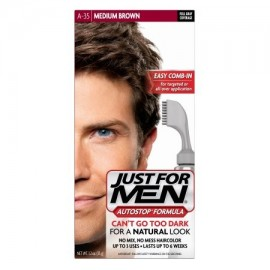 Just For Men AutoStop Fórmula Fácil Peine-A35 en Color de pelo marrón medio 1.2 OZ